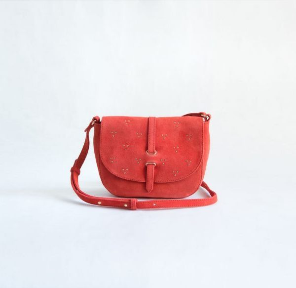 bolso rojo tachuelas ante fur for you