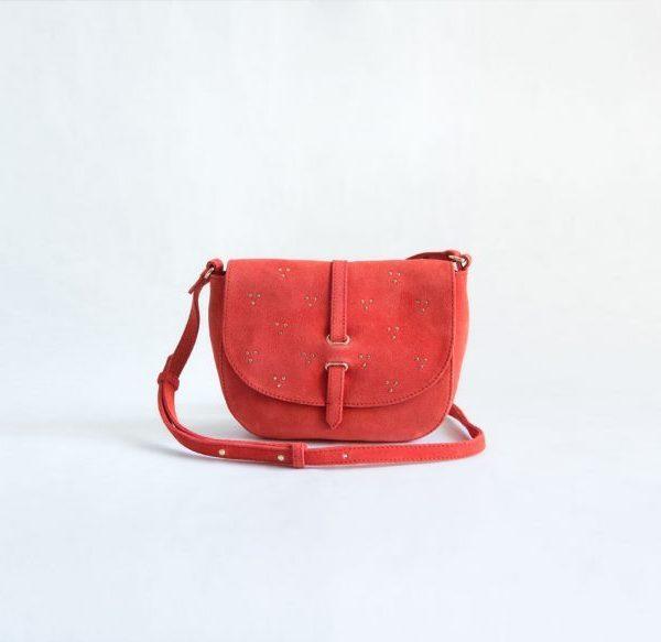 bolso rojo tachuelas ante fur for you