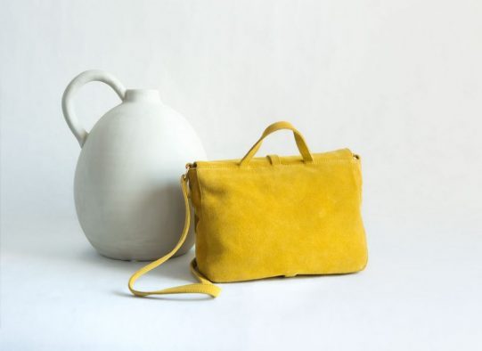 bolso amarillo ante fur for you