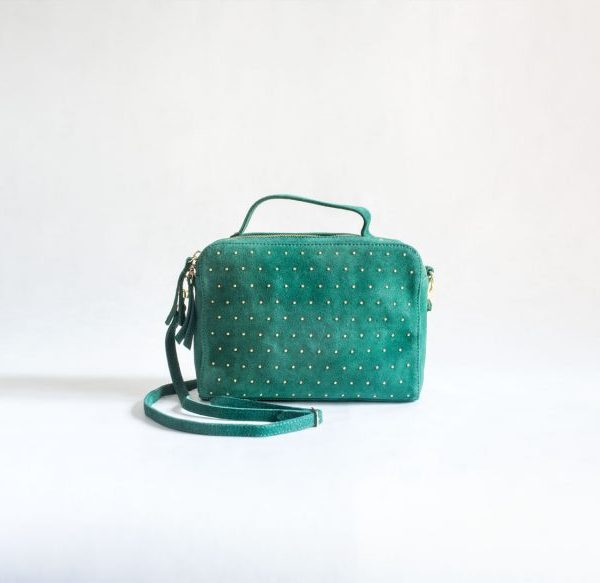 bolso verde tachuelas ante fur for you