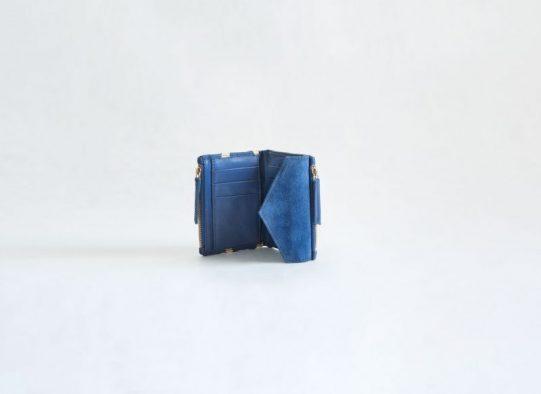 billetero monedero ante cuero azul fur for you