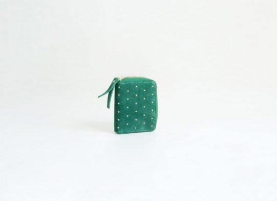 billetero monedero ante verde tachuelas fur for you