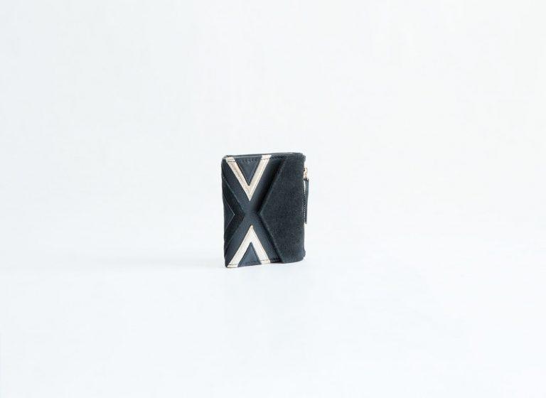 billetero monedero ante cuero negro fur for you