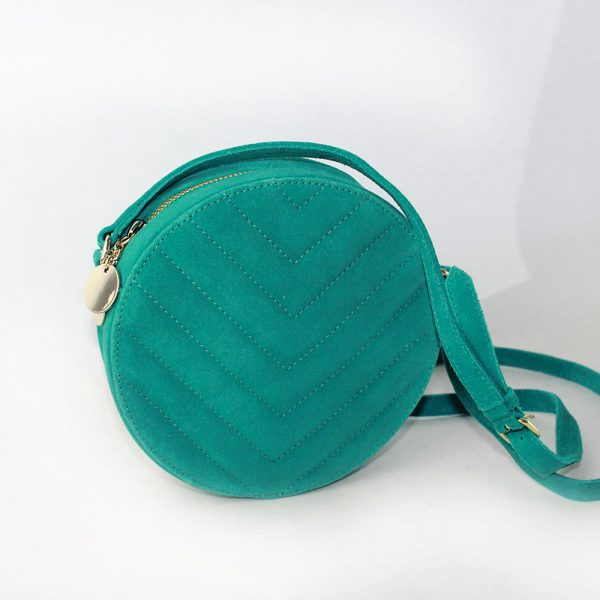 bolso redondo ante verde