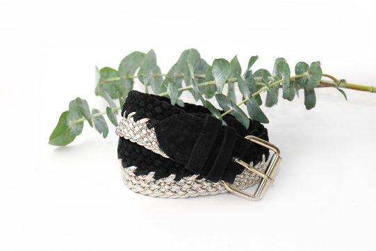 cinturon negro trenzado